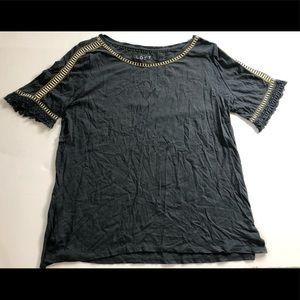 Loft dark gray short sleeved top